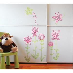 Стикер за стена | Цветя  | Стилизирани цветя 606