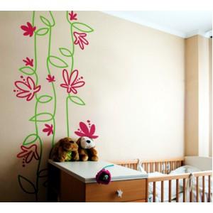 Стикер за стена | Форми, настроение  | Стилизирани цветя 608