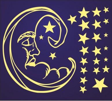 Луна и звезди 609