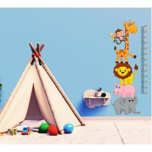Декорация за стена | Детска стая  | Детски метър с животни от джунглата