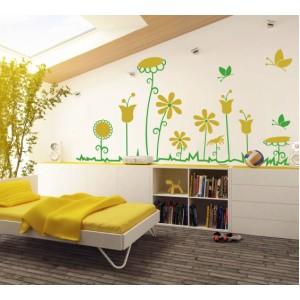 Стикер за стена | Цветя  | Стилизирани цветя 622