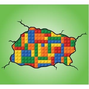 Стикер за стена | Геометрични  | Лего стена