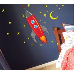 Стикер за стена | Детска стая  | Ракета 16