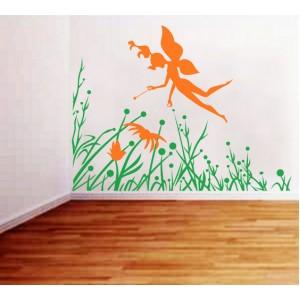 Стикер за стена   Трева, Бамбук    Фея на Тревата