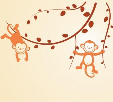 Две маймунки на клонче, Вариант