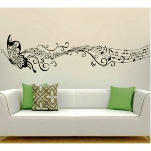 Стикер за стена | Животни  | Музиката на пеперудата