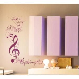 Стикер за стена | Форми, настроение  | Музикален ъглов мотив