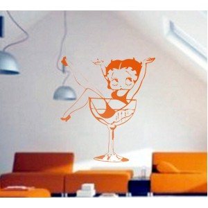 Стикер за стена | Картинки | В чашата с виното