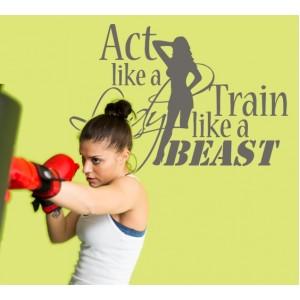 Стикер за стена | Фитнес | Тренирай като звяр