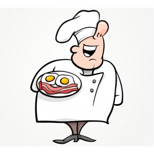Декорация за стена | Ресторант | Готвач 971123 Бекон с яйца