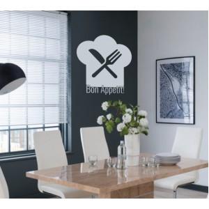 Стикер за стена | Кухня  | Добър апетит 971404 Шапка на готвач