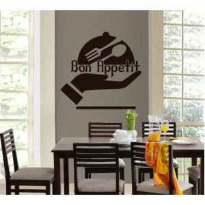 Стикер за стена | Кухня  | Добър апетит 971408 Ръка
