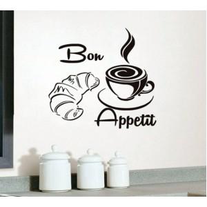 Стикер за стена | Кухня  | Добър апетит 971421 Кроасан