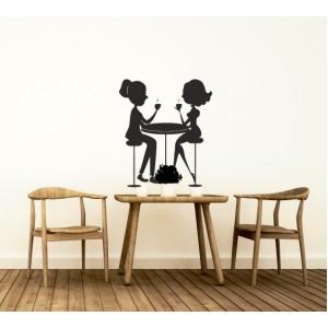 Стикер за стена | Картинки | Среща на кафе
