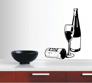 Композиция с бутилка вино