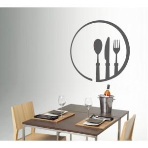 Стикер за стена | Картинки | Лъжица, нож, Вилица