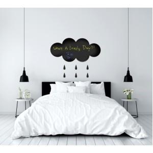 Декорация за стена | Стикери за писане  | Черна дъска, Дъждовен облак