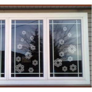 Стикер за стена | Коледни  | Снежинки 1