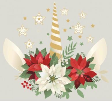 Стикер за стена Коледна свещ
