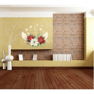 Стикер за стена | Коледни  | Коледна свещ