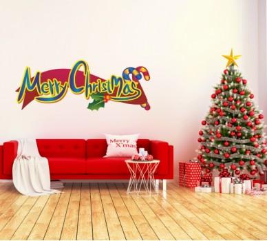 Стикер за стена Весела Коледа
