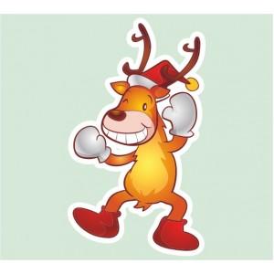 Стикер за стена | Коледни  | Забавно еленче