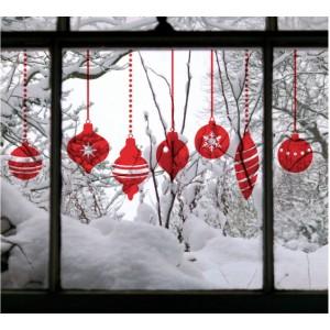 Стикер за стена | Коледни  | Топки за елха, различни