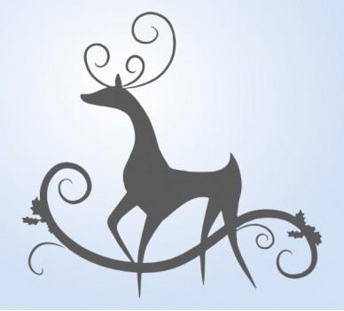 Стикер за стена Елегантно еленче