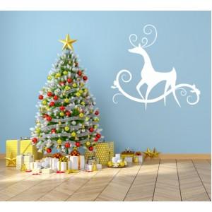 Стикер за стена | Коледни  | Елегантно еленче