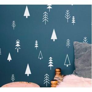 Стикер за стена | Коледни  | Елхички