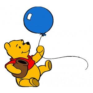 Мечо Пух, С балон и гърне с мед