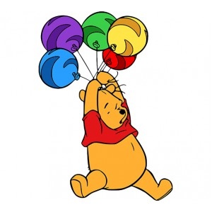 Мечо Пух, лети с балони 46416
