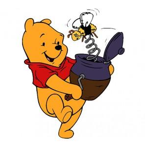 Мечо Пух, С гърне мед и пчела