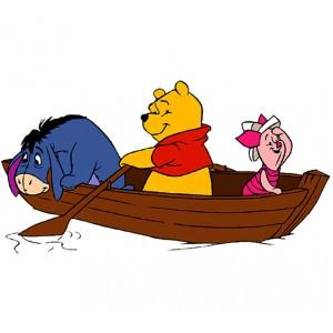 Мечо Пух, В лодката с приятели
