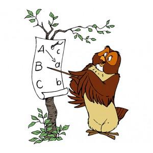 Мечо Пух, Бухал преподава ABC