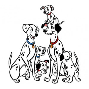 Стикер за стена | Кучета  | 101 Далматинци, Мама и Татко