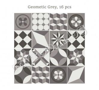 Стикер за стена Геометрични Сиви, 16 бр.