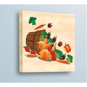 Стикер за стена | Дърво | Ведро и зеленчуци