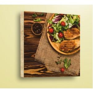 Декорация за стена | Дърво | Пилешка пържола