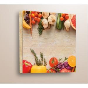 Декорация за стена | Дърво | Зеленчуци