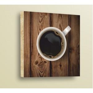 Стикер за стена | Дърво | Чаша кафе