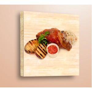 Декорация за стена | Дърво | Картофи и месо