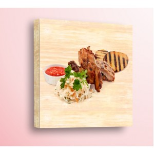 Декорация за стена | Дърво | Колсло и месо