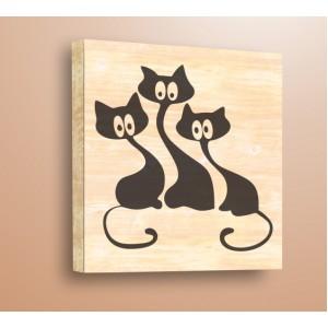 Три котки
