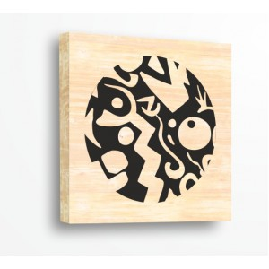 Стикер за стена | Форми, Дърво | Абстрактен Кръг 20216, Дърво