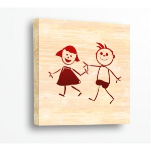 Стикер за стена | Форми, Дърво | Детска рисунка, Дърво