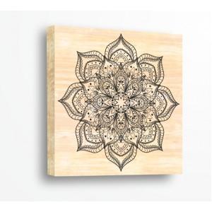 Стикер за стена | Форми, Дърво | Дантелена Мандала 21002