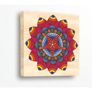 Стикер за стена | Форми, Дърво | Мандала с Цветя 21024