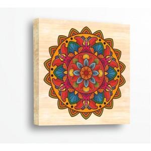 Стикер за стена | Форми, Дърво | Цветна Мандала  21029