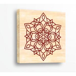Стикер за стена | Форми, Дърво | Изящна Мандала 21099